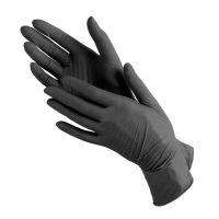 Перчатки Виниловые, Чёрные, н/с, неопудренные (S, M, L) 50пар