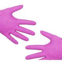 Перчатки нитриловые, Фиолетовые, н/с, неопудренные (XS, S, M, L, XL) 50пар