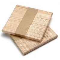 Шпатели деревянные, узкие (100шт)